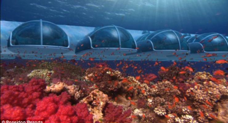 Номер в подводной гостинице стоит $15 тысяч в неделю (ФОТО)