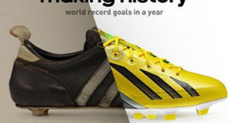 Adidas посвятил рекламу футбольному рекорду Месси