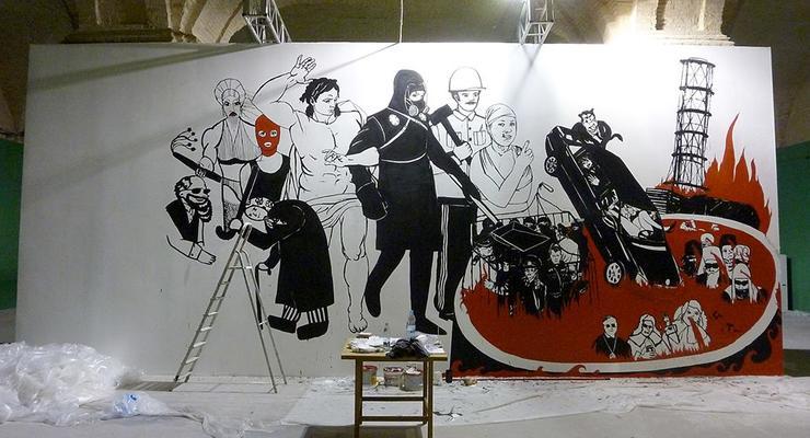 Художник, чью картину зарисовала краской директор Мистецького арсенала, намерен подать в суд