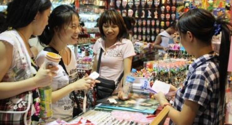 За три месяца розничные продажи в Китае выросли на 12% и превысили $1 трлн