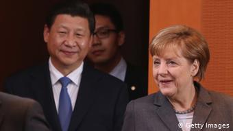Ангела Меркель и Си Цзиньпин
