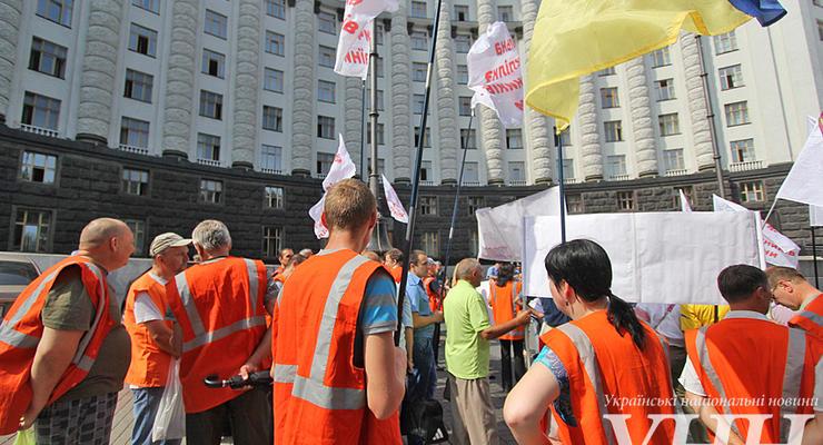 Железнодорожники пикетировали Кабмин