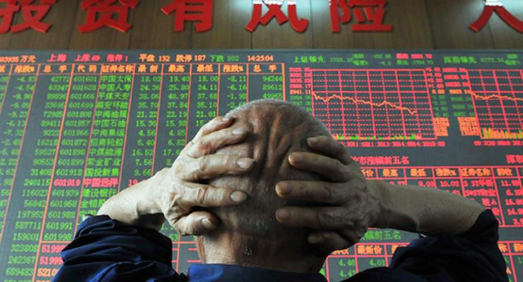 Фондовый рынок Китая снова обвалился