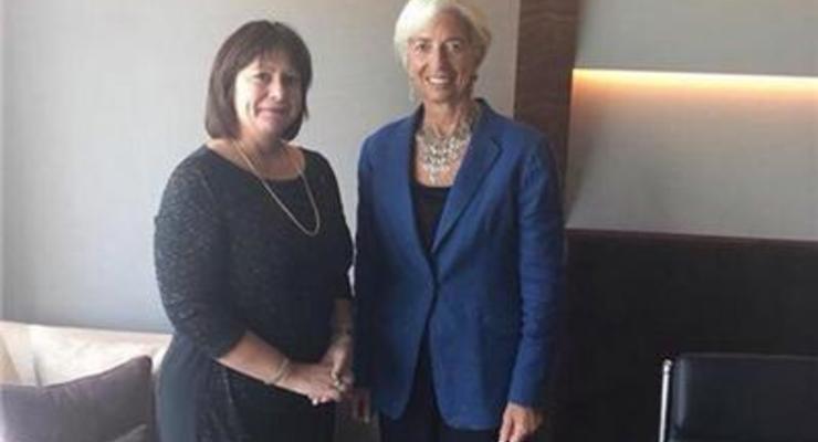 Яресько встретилась с главой МВФ