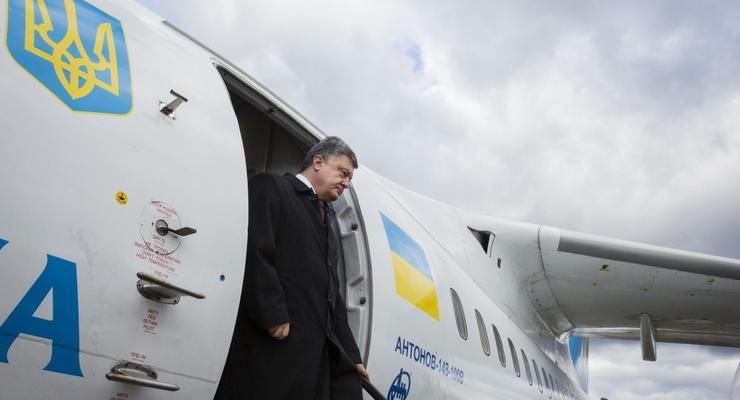Стало известно, во сколько стране обошлись рабочие полеты Порошенко
