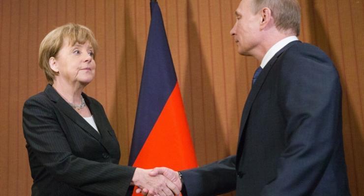 Путин пожаловался Меркель на Украину из-за газового вопроса