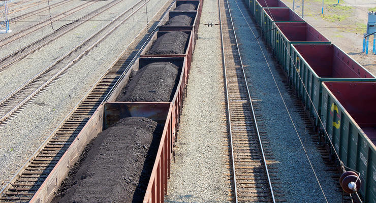 Две трети импортированного в Украину угля пришлось на Россию