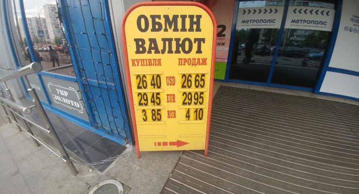 Нацбанк ослабил курс гривны: Курс валют на 7 мая