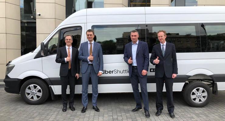 В Киеве презентовали сервис Uber Shuttle