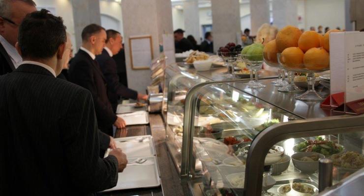Сколько стоит завтрак и обед в Верховной Раде – фото меню с ценами