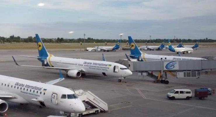 Сотрудники компании, обслуживающей аэропорт Борисполь, бастуют