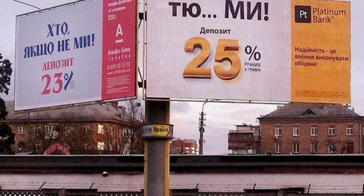 Украинские банки только за 2019 год потратили 243 млн грн на рекламу