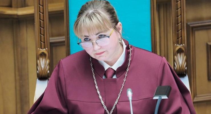 Председатель Конституционного суда Шаптала получила 400 тыс грн в июне