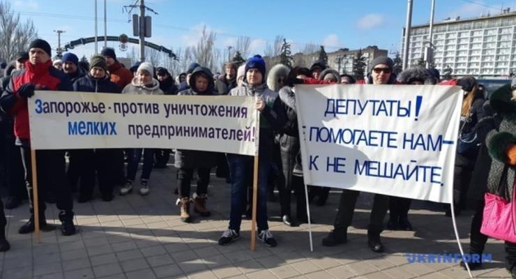 В Украине проходят акции против кассовых аппаратов