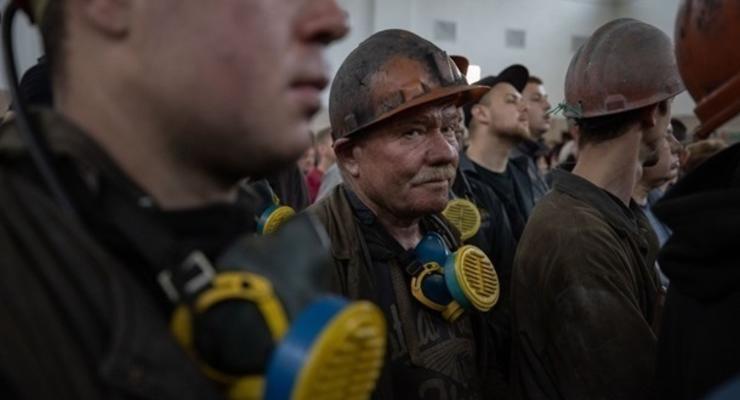 На Волыни шахтеры устроили акцию протеста