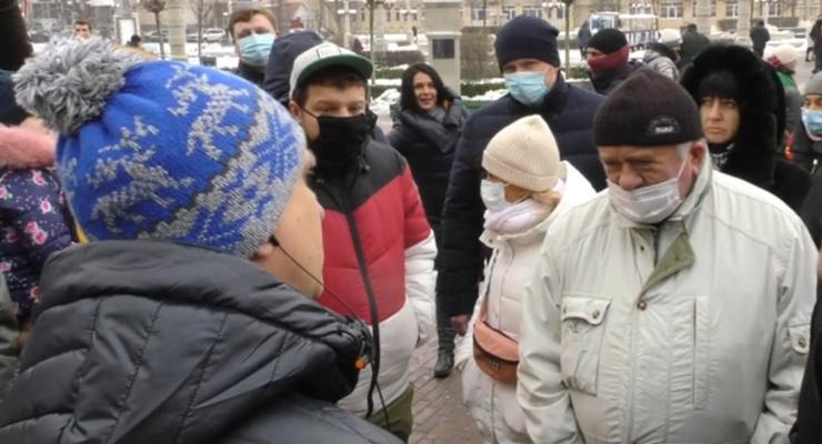 В Ирпене митинговали против скандального застройщика