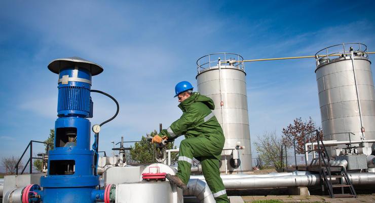 Украина приостановила закачку газа в хранилища